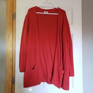 Old Navy Long Orange Sweater